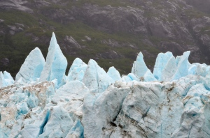 Horizon view of Margerie Glacier, Alaska