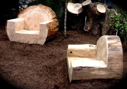 Log patio furniture