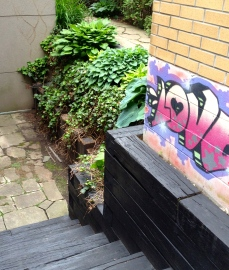 Graffiti in garden