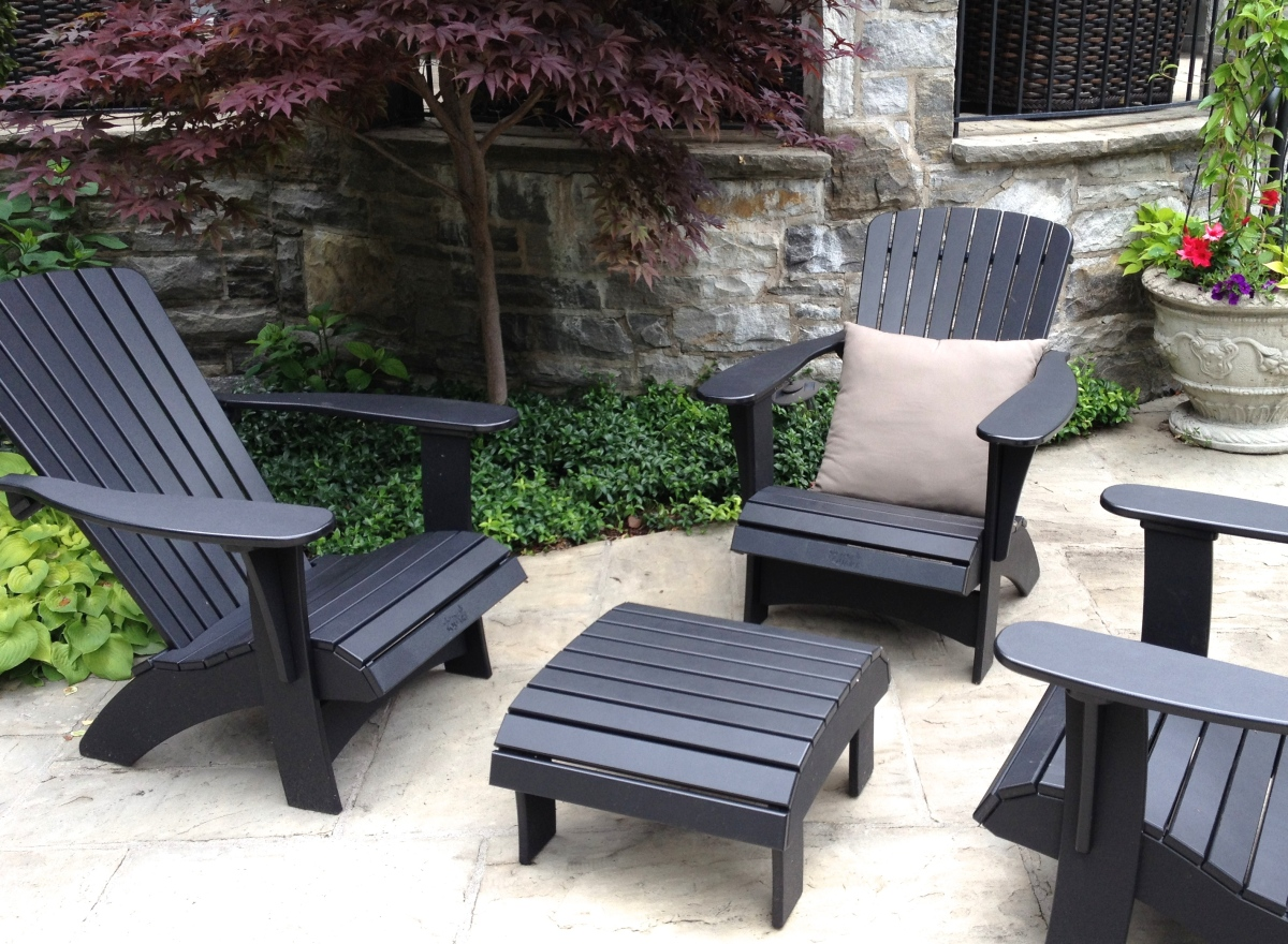 Black patio furniture