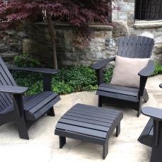 Black patio furniture