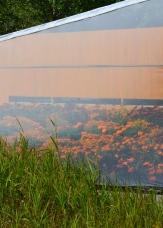 Detail of Secret Orange exhibit