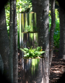 Reflective plant containers