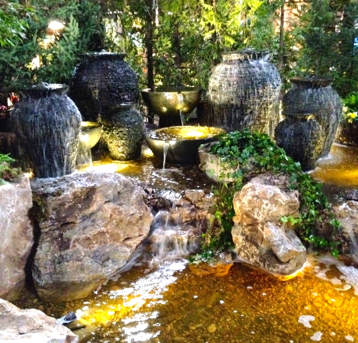 Urns water feature