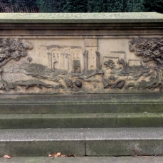 North side of Tradescant tomb