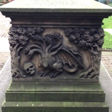End carving of Tradescant tomb