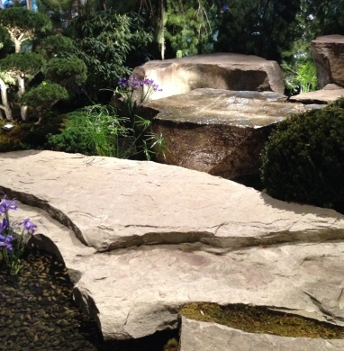 Big stone water feature