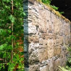 Fake stone wall
