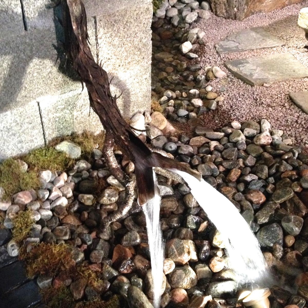 Sculptural drain pipe