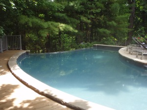 Pool and ravine