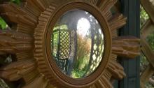 Mirror in arbour