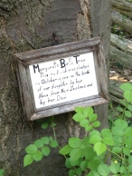 Dedication sign
