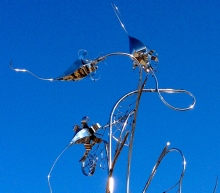 Stainless steel garden sculpture