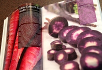 Pages showing deeply coloured carrots