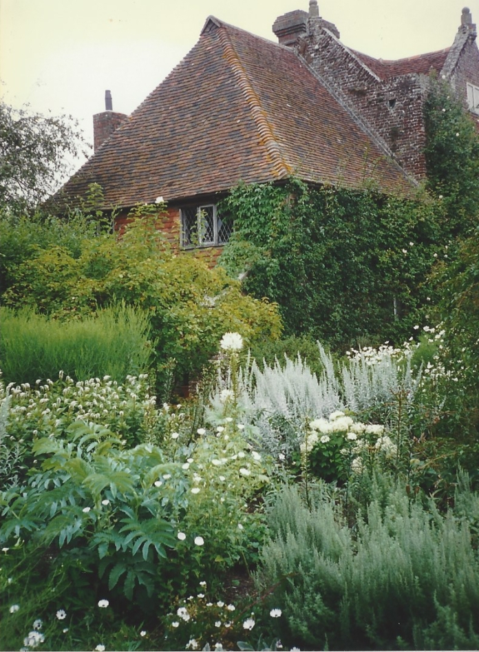 A view across the White Garden at Sissinghurst