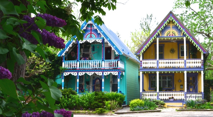 Small painted homes are a unique style of coastal living.