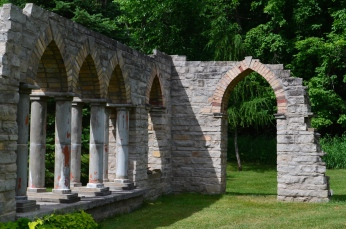 A stone gothic garden folly
