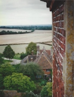 A view of the surrounding countryside from the tower at Sissinghurst.