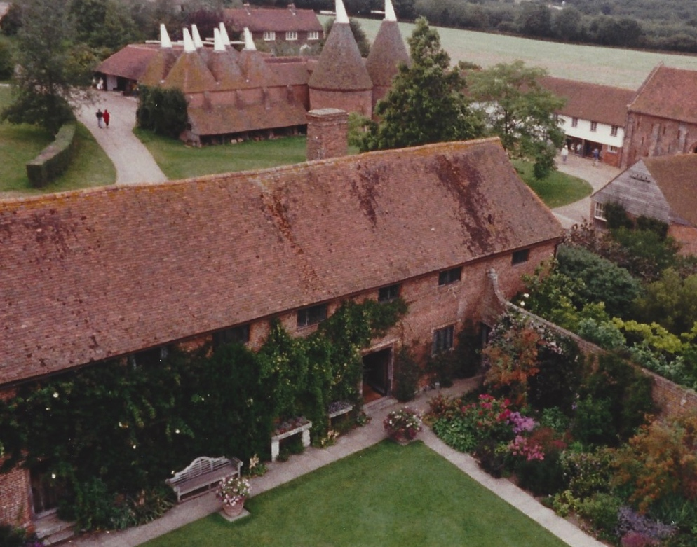A view of buildings at Sissinghurst.