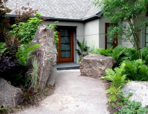 Rocks as natural elements showing a garden trend.