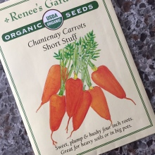 A seed packet from Renee's Garden Organic Seeds.